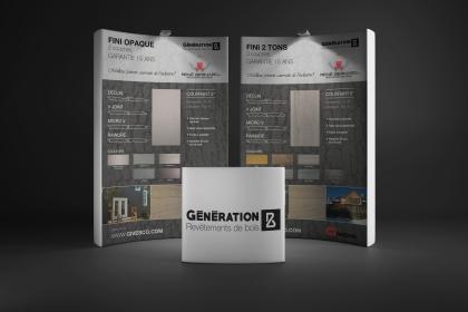 Panneaux publicitaires pour la collection Génération B