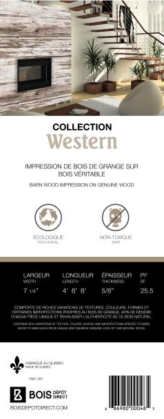 Étiquette Collection Western